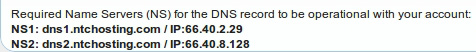 Hosted domains section - default DNS'es