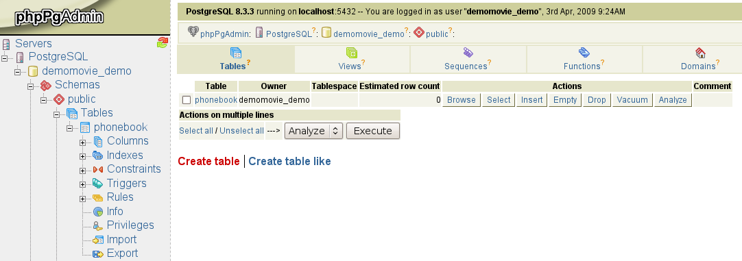 Examples of how to Delete Tables in PostgreSQL