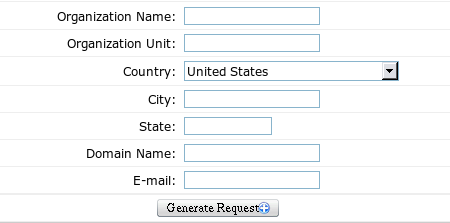 How to Generate an CSR Request via the Control Panel provided by NTC Hosting