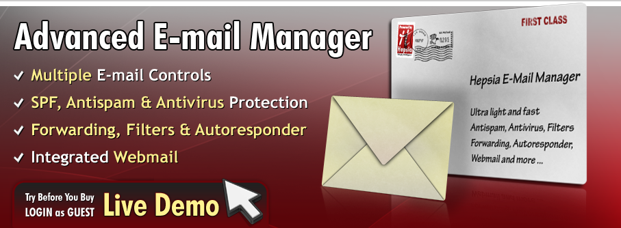 Advanced Hepsia Email Manager
