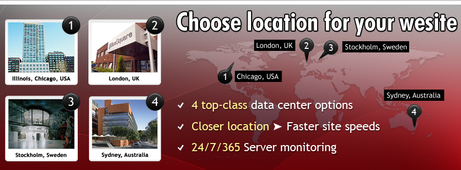 Choose Your Website Location