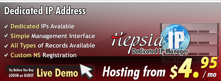 See how to get a dedicated IP address from NTC hosting