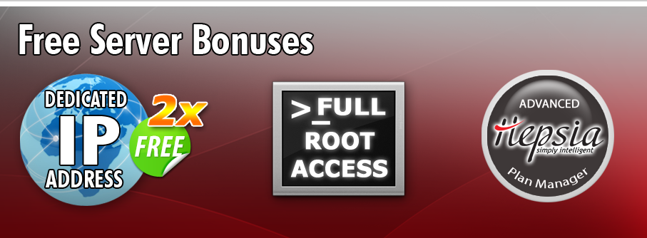 Free dedicated servers bonuses