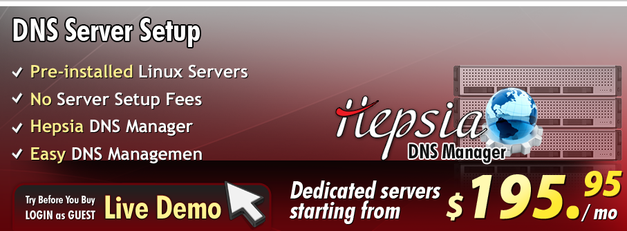 Learn more on how to setup DNS Servers. Pre-set DNS servers available