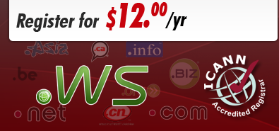 .ws domain registration or transfer