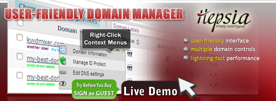 Control multiple domains with the easy-to-use domain manager