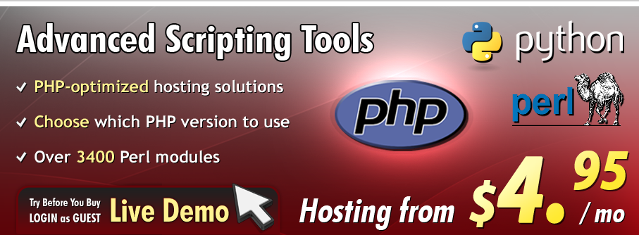 All the popular scripting languages are supported with NTC Hosting