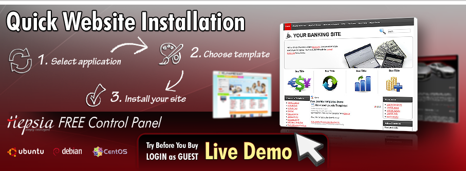 1-click Website Installation