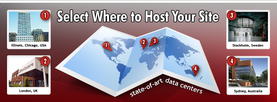 State of the art web hosting data centers