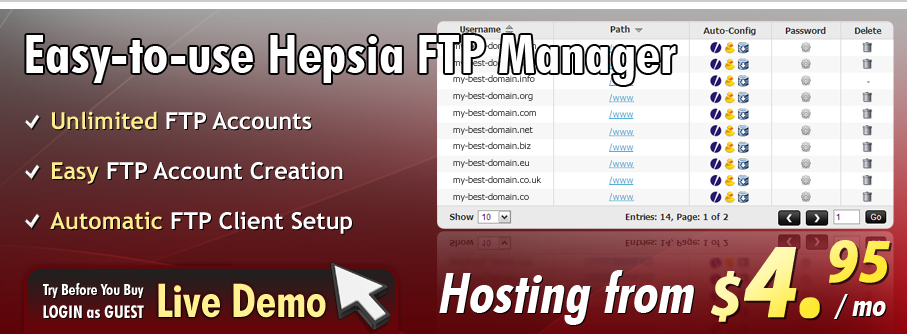 Web hosting plans with unlimited FTP accounts