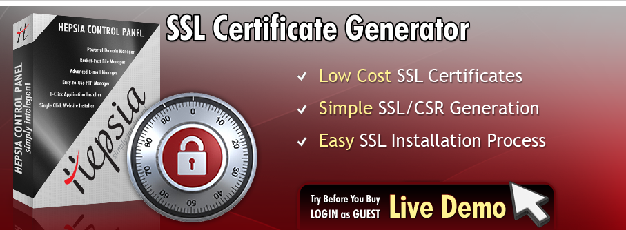 SSL certificate generator with all shared web hosting plans